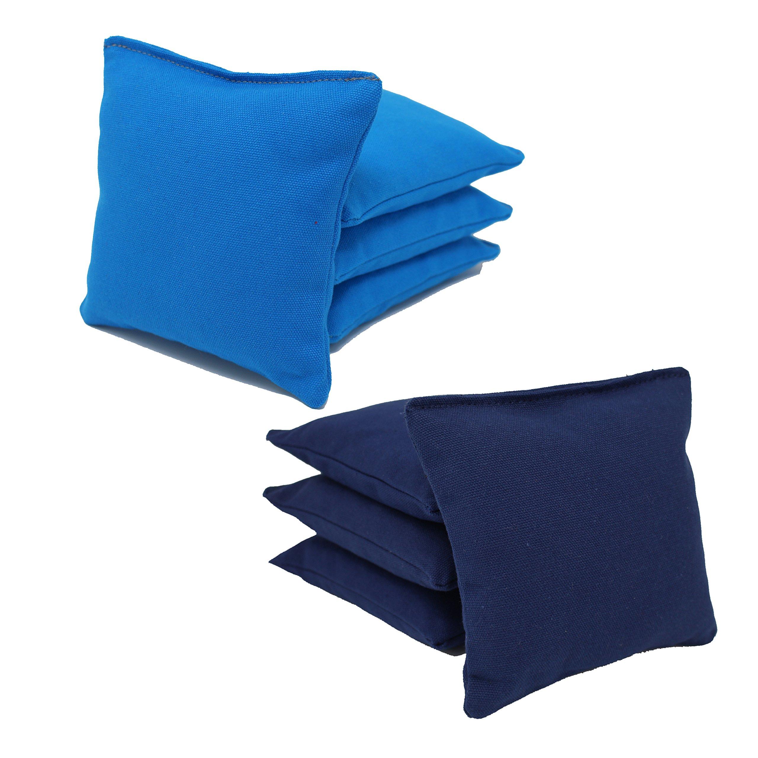 Free Donkey Sports Cornhole Bags (Pack of 8), Navy/Turquoise, Regular by Free Donkey Sports