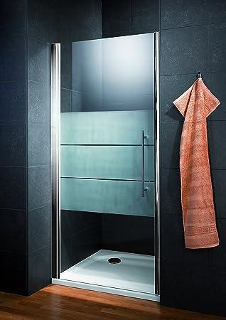 Puerta de ducha giratoria en nicho, 80 x 190 cm, mampara de ducha ...