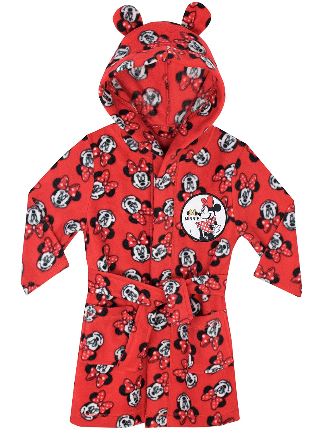 Disney Girls Minnie Mouse Dressing Gown Ages 18 Months to 8 Years ...