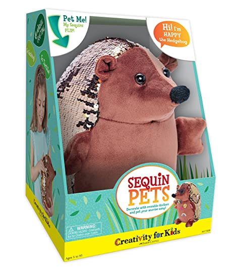 Amazon creativity for kids sequin pets stuffed animal happy creativity for kids sequin pets stuffed animal happy the hedgehog plush toy solutioingenieria Gallery