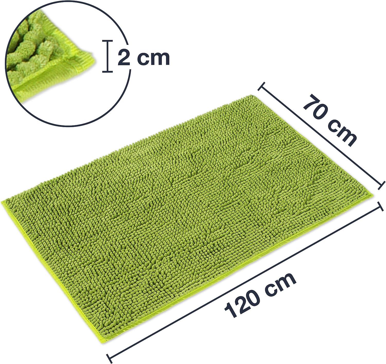 WohnDirect Tapis de Bain 45 x 45 cm sans eccolure pour WC antiderapant Microfibre Gris