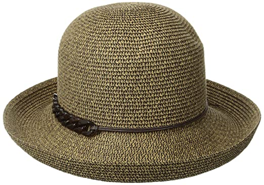 21a0d09b2e2 San Diego Hat Company Women s Kettle Brim Hat with Tortoise Shell Chain