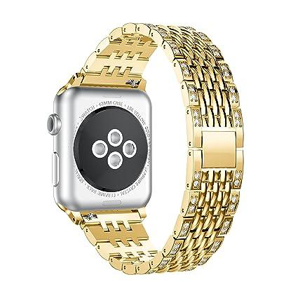 Amazon.com: Kartice para Apple Watch Band, aleación vidrio ...