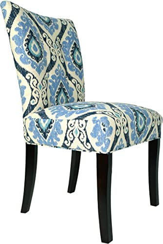 Sole Designs Julia Collection Button Tufted Upholstered Spring Seat Double Dow Dining Armless Side Chair