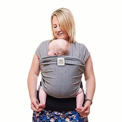 Prima del portador de bebé | Gris Neutro | Un tamaño para todos | Acogedor y