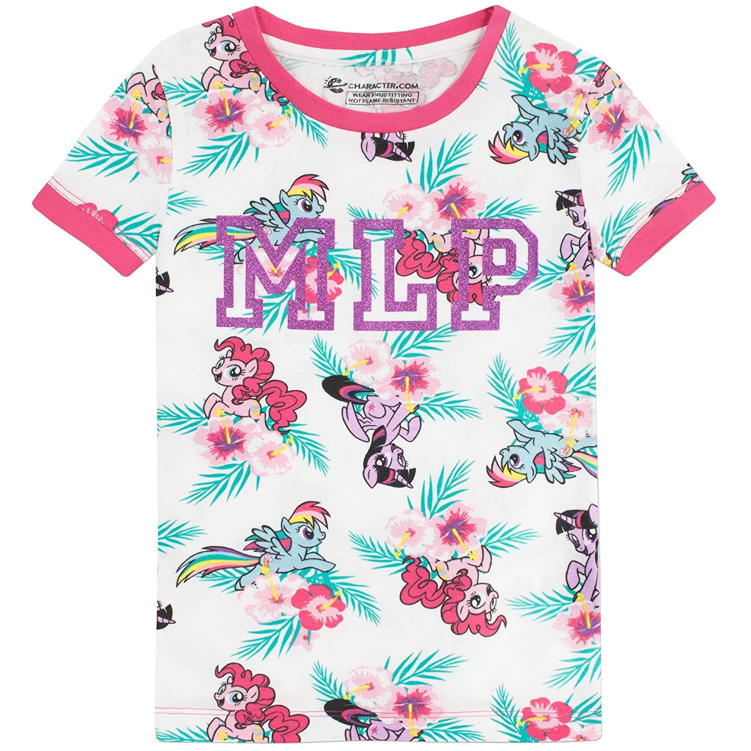 Amazon.com: My Little Pony Girls Pinkie Pie Rainbow Dash and Twilight Sparkle Pajamas: Clothing