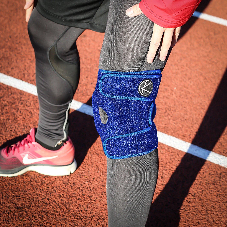LCL Tutore per ginocchio regolabile Ginocchiera aperta per artrite e supporto per donne e uomini MCL strappo del menisco Best Plus Size ginocchiera per ACL sport