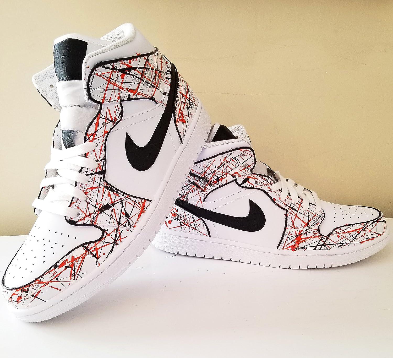 cde7bca76b38b Amazon.com: Nike Air Jordan 1 Custom Mens 'Shattered Backbaord ...