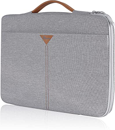 SIMTOP Laptop Case Sleeve for 13.5 Inch New Microsoft Surface Book 3/2/1, Surface Laptop 3/2/1, 360 Protective Waterproof Notebook Bag Briefcase for 13-inch Old MacBook Air/MacBook Pro Retina Grey