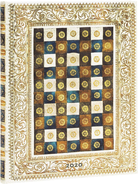 Paperblanks 12-Monatskalender 2020 230 x 180 mm Ultra Aureo |Verso