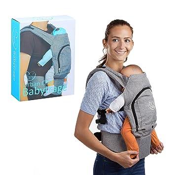 Little Choice - Mochila para bebé, ergonómica, 3 meses y superior, cómoda de llevar con capucha, color gris: Amazon.es: Bebé