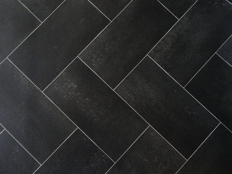 L/änge: 200 cm, Breite: 400cm schwarz PVC in Parkettdielen-Optik von Alpha-Tex 9.95/€//m/²