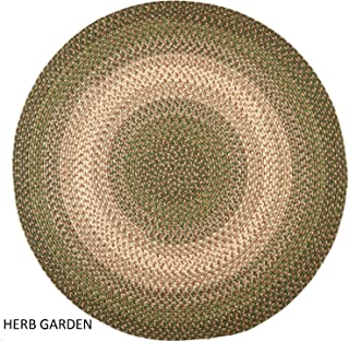product image for Rhody Rug Ellsworth Indoor/Outdoor Reversible Braided Rug by Green/Beige