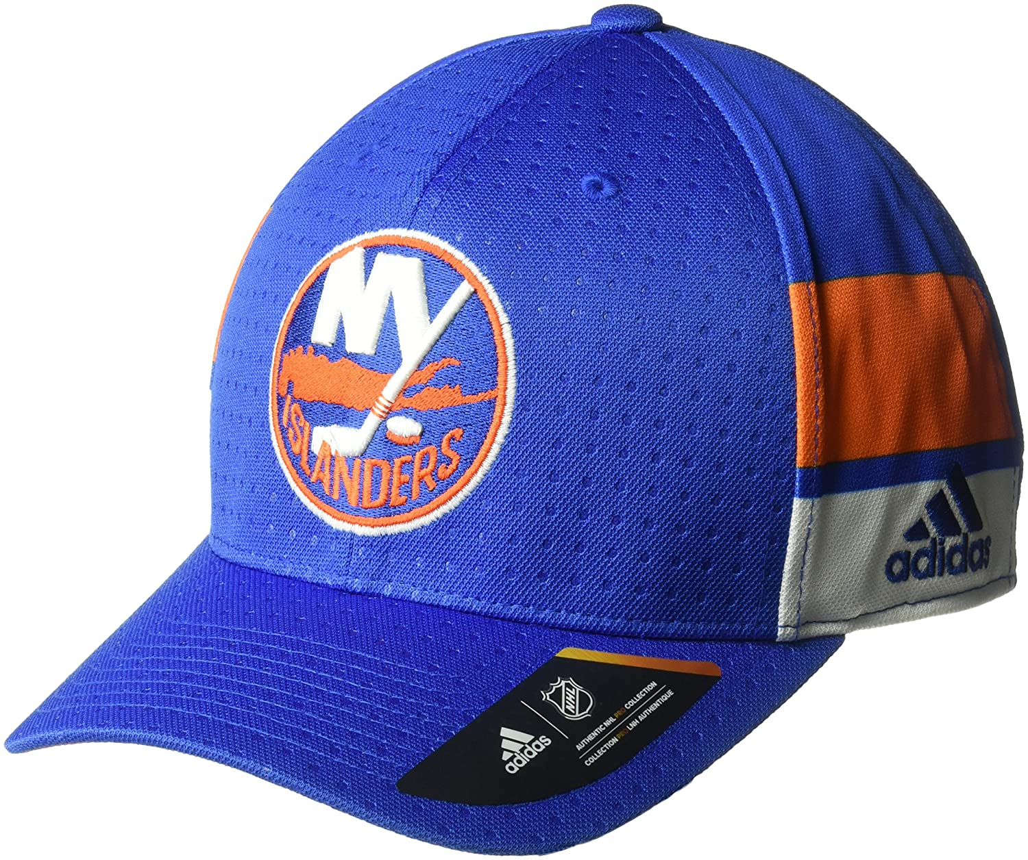new products 6430f f106f Amazon.com   adidas NHL New York Islanders Men s Pro Collection Draft Cap,  Large X-Large, Royal   Sports   Outdoors