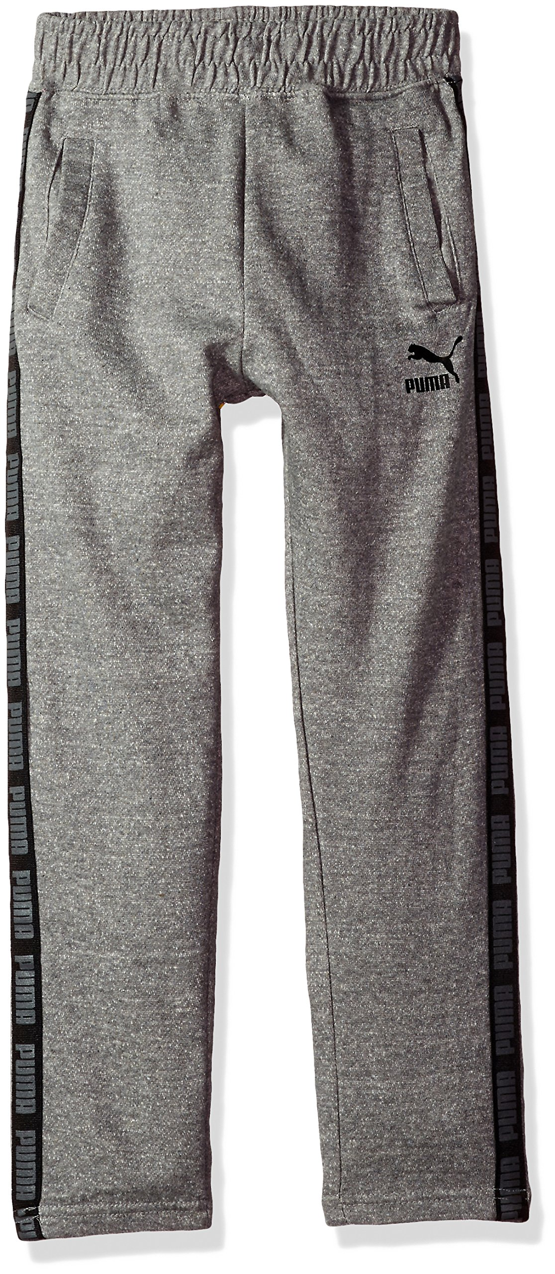 PUMA Big Boys' Tapered Pant, Charcoal Heather, Large (14/16)