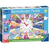 Ravensburger Peppa Pig - Tell the Time Clock Puzzle, 60pc Jigsaw Puzzle