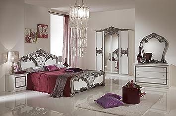 Schlafzimmer Elisa Weiss Silber 160 X 200 Cm Klassisch Royal Sti