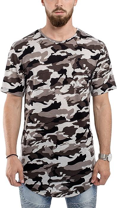 d6c9b4756b94 Blackskies Round Basic Longshirt | Langes Oversize Fashion Langarm Herren T-Shirt  Long Tee -
