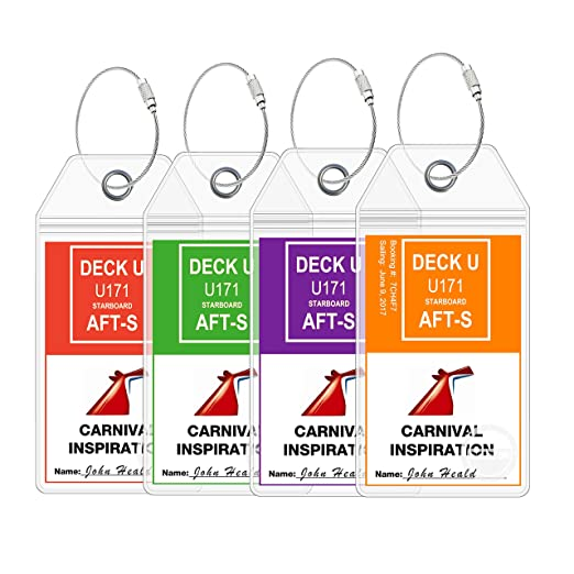 Amazon.com | Carnival Cruise Ship Luggage Tags - eTag Holders by ...