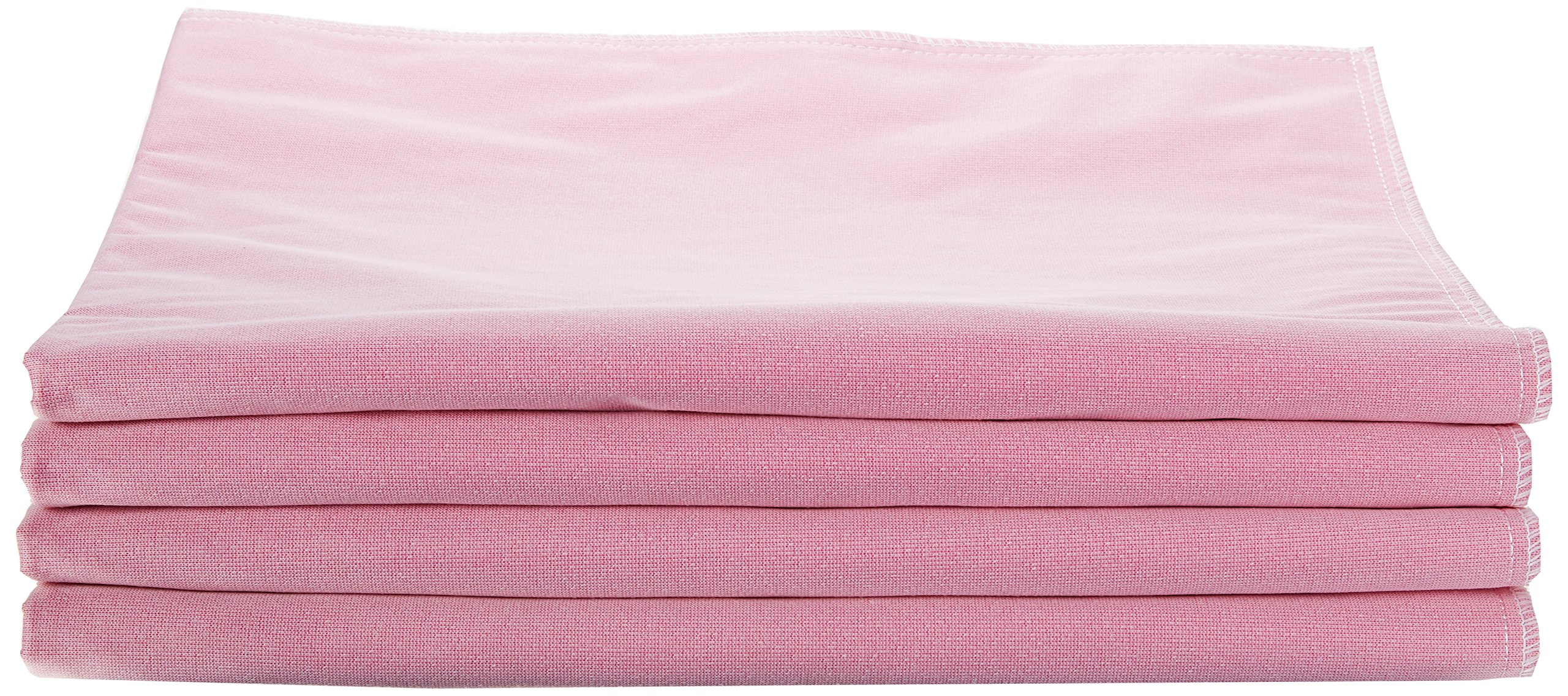 "Medline Sofnit 300, Pack of 4 Large Washable Pink Underpads, 34""x36"" for use with incontinence, reusable pet pads, reusable bed pads, great for dogs, cats, and bunny"