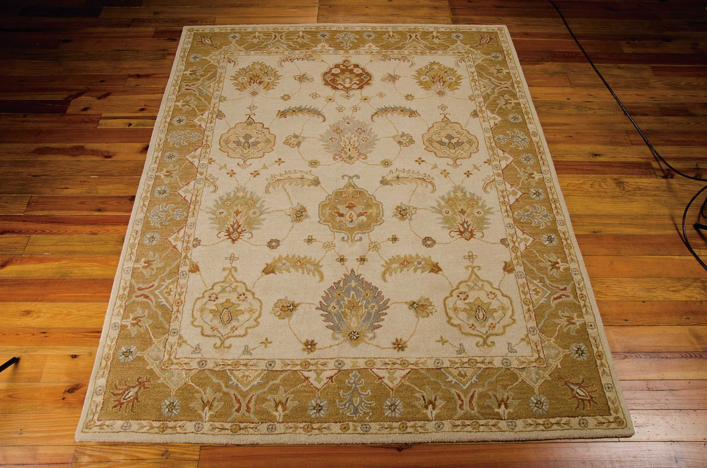 Nourison India House (IH87) Ivory/Gold Rectangle Area Rug, 8-Feet by 10-Feet 6-Inches (8' x 10'6'')