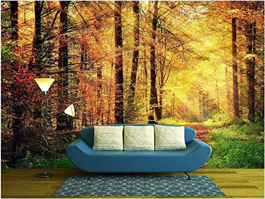 Removable Wall Mural Self-Adhesive Large Wallpaper 66x96 inches Autumn Scene wall26