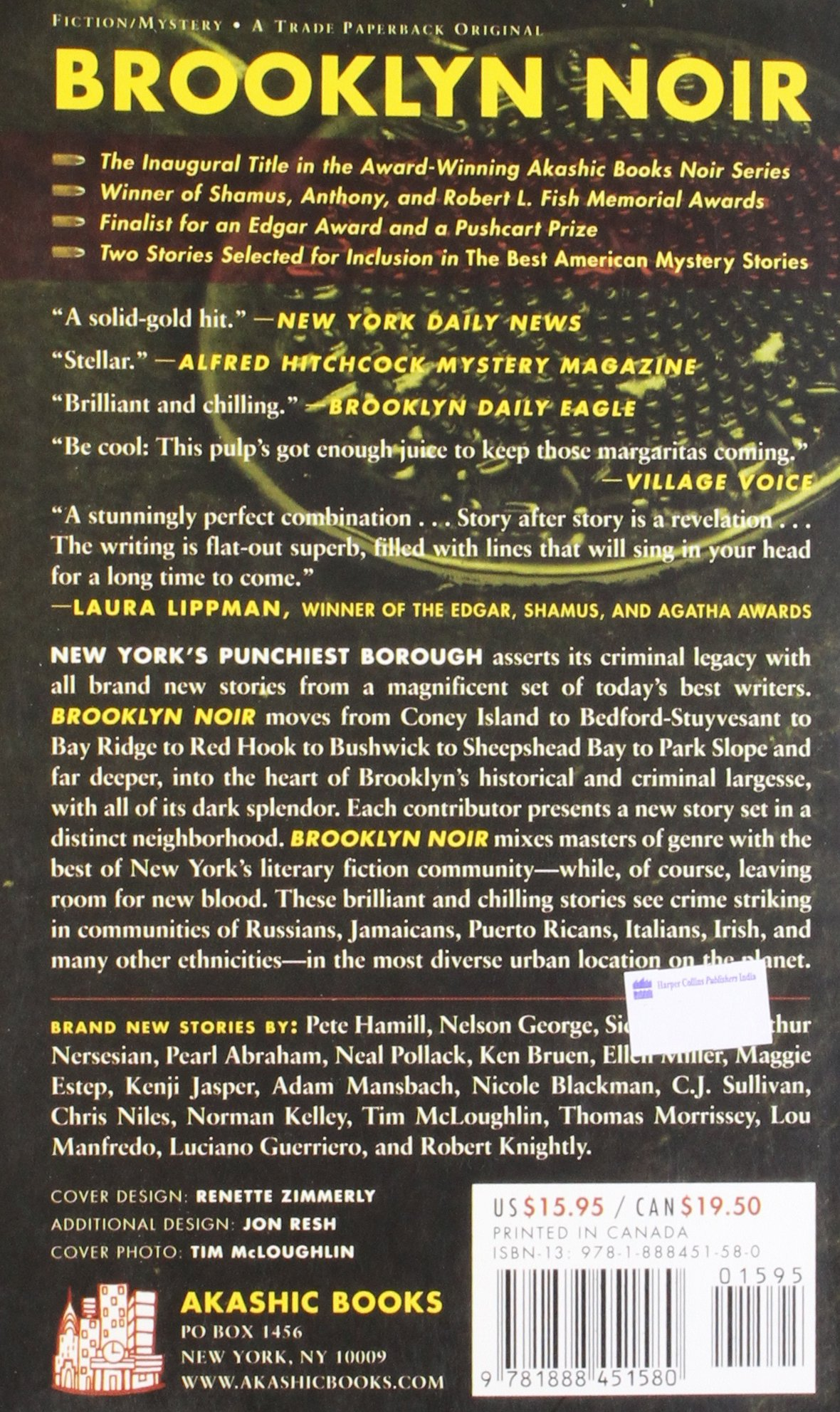 Brooklyn Noir (akashic Noir): Tim Mcloughlin: 9781888451580: Amazon:  Books
