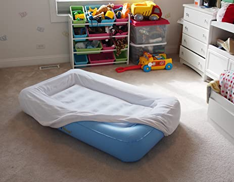 LazyNap LZ 04K Kids Air Mattress With Wrap Around Bumpers Soft Cover