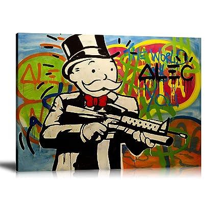 Amazon.com: Newartprint ALEC Monopoly HD Printed Oil Paintings Home ...