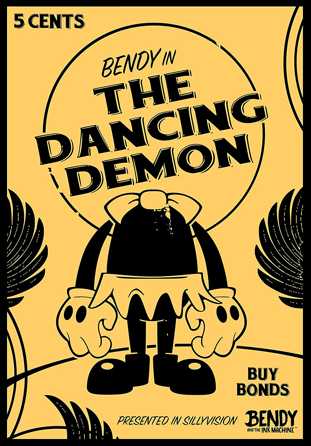 amazon com bendy and the dancing demon poster posters prints