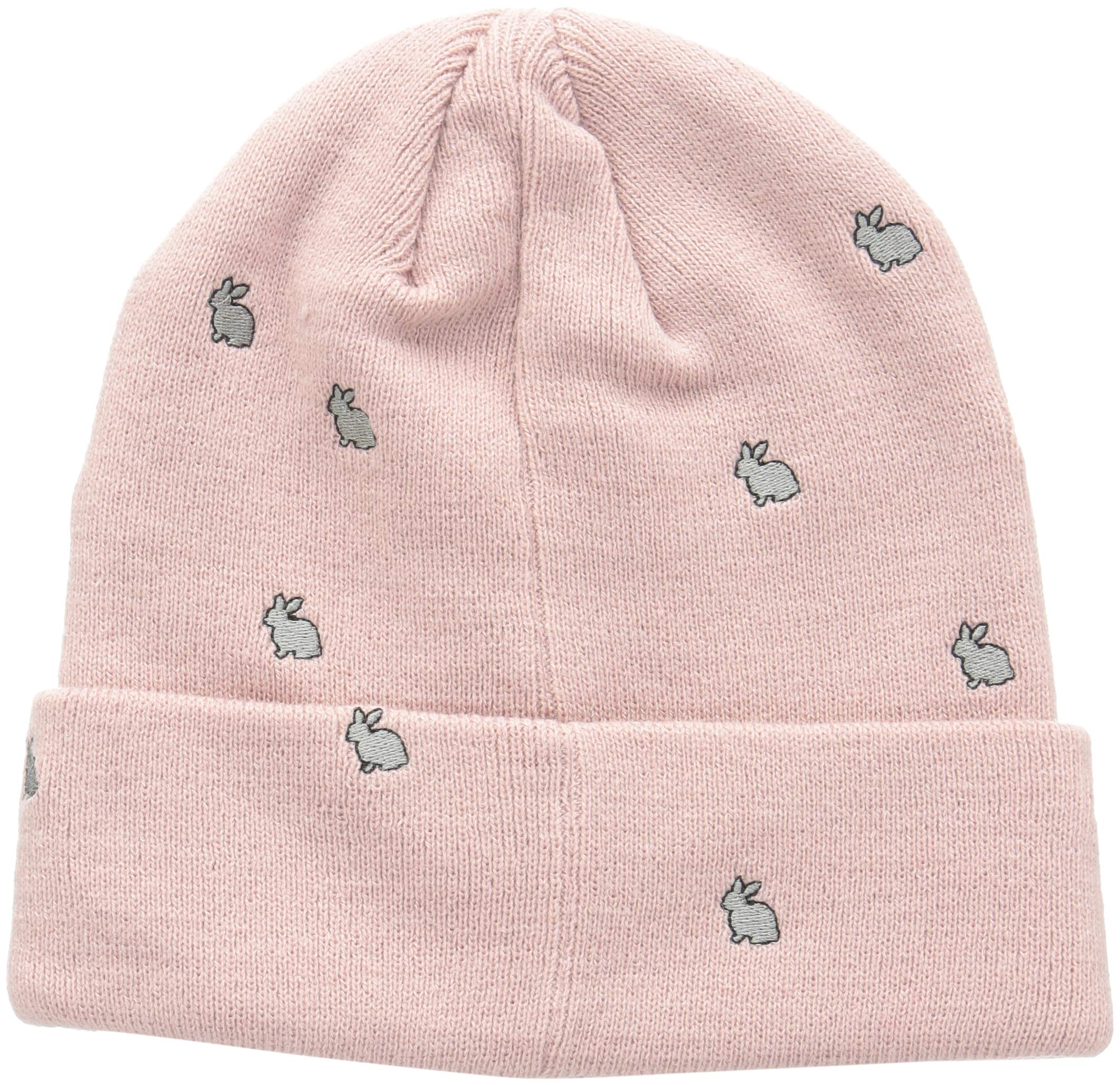 prAna Women's Wild Now Beanie Cold Weather Hats, One Size, Khaki Rose Bunny