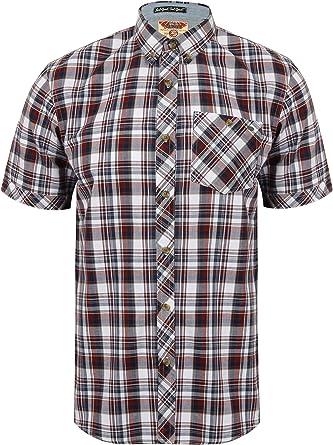 Tokyo Laundry Hombre Camisa de Cuadros de Legend - Rojo Caoba, Chica: Amazon.es: Ropa y accesorios
