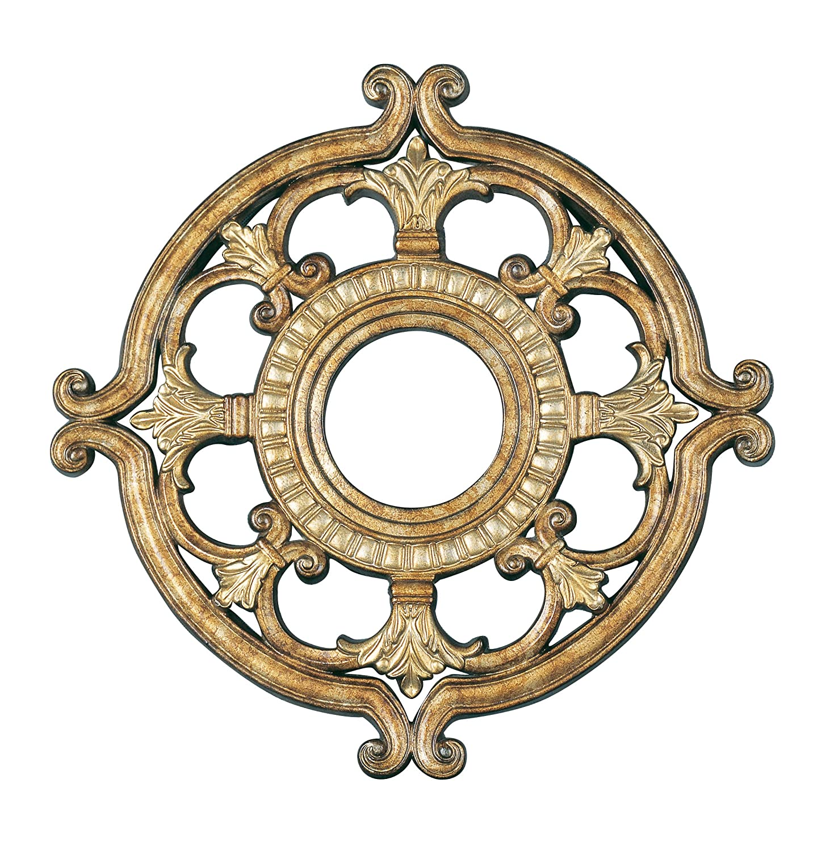 Livex 8218-65 Ceiling Medallion- Vintage Gold Leaf   B0032LX4Z2