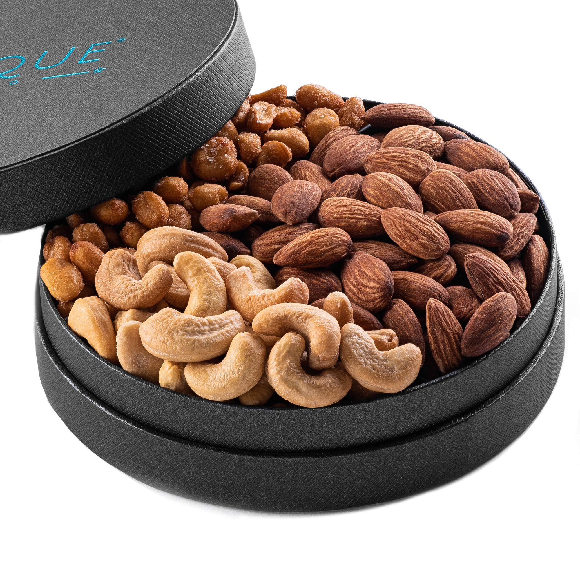Gourmet Nut Gift Tray - 6'', Freshly Roasted Assorted Nuts for Mothers Day, Fathers Day,Holiday and Corporate Gifting, Valentines Day, Thanksgiving Hostess Gift