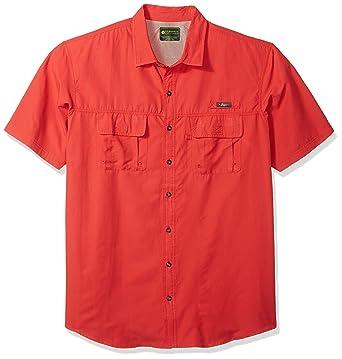 b9cbd6557a1 G.H. Bass & Co. Men's Big and Tall Short Sleeve Fancy Explorer Solid Shirt
