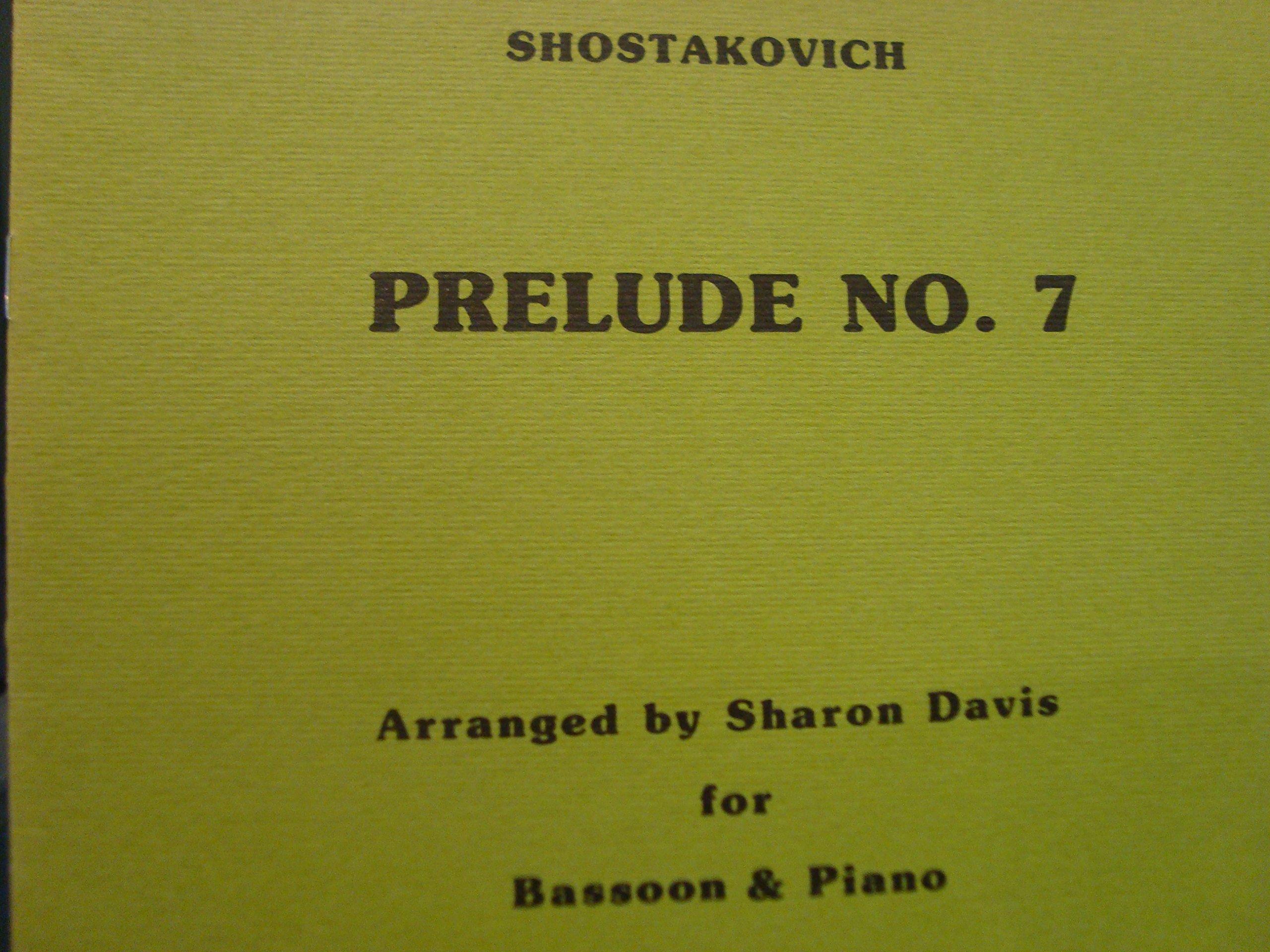 Prelude No. 7 / Shostakovich / for Bassoon & Piano