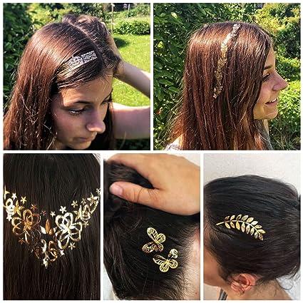 4x Oro flash Tatuajes, Hair Tatuajes, piel y tatuajes para cabello ...