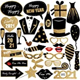 Home Office D/écor Sturdy Cardstock New Years Photo Booth Props Great for Royal and Masquerade Themed New Year/'s Party Backdrop 2020 New Years Eve Photo Props Decorations Supplies Pack of 25