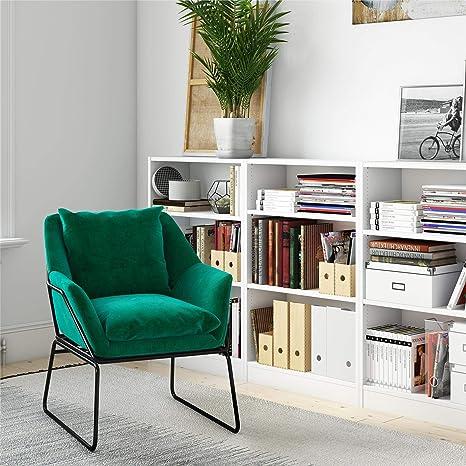 Novogratz Alivia Accent Chair, Green Velvet