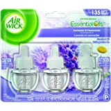 Air Wick Scented Oil Refill Plug in Air Freshener Essential Oils, Lavender & Chamomile, 3ct, 2.01oz