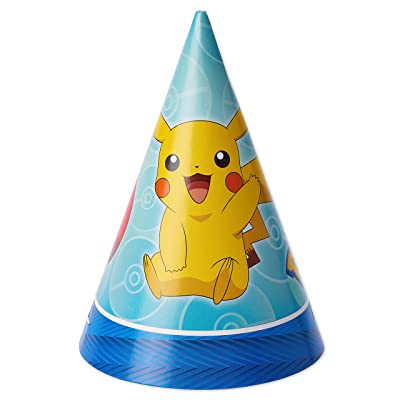 Pokemon™ Paper Cone Hats, Party Favor: Toys & Games