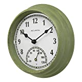 AcuRite 02470 Rustic Green Outdoor Clock with