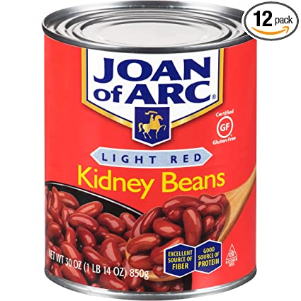 Amazon Com Joan Of Arc Beans Light Red Kidney 30 Ounce Pack Of 12 Canned Kidney Beans Grocery Gourmet Food