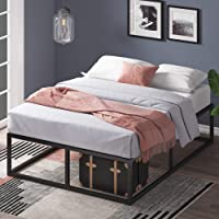 "Zinus Modern Studio 14 Inch Platforma Bed Frame / Cot Size / 30"" x 74.5"" / Mattress Foundation with Wood Slat Support, Narrow Twin"
