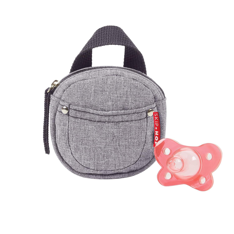 Heather Grey Skip Hop Grab /& Go Pacifier Pocket