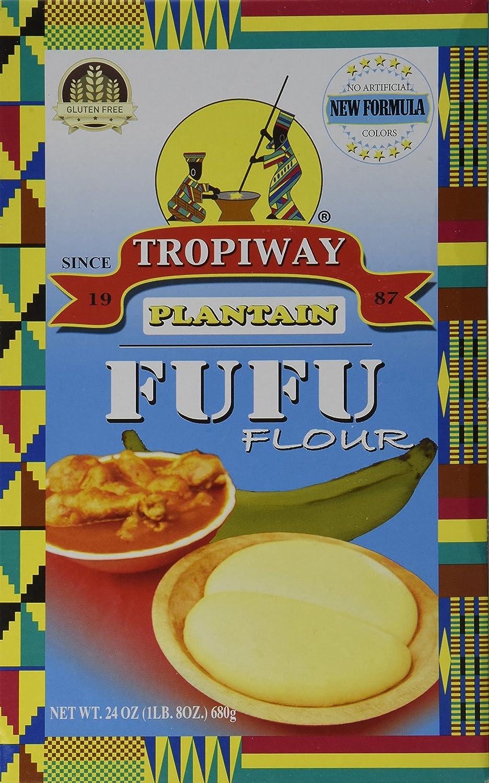 Plantain Fufu Flour 24oz Pack of 2