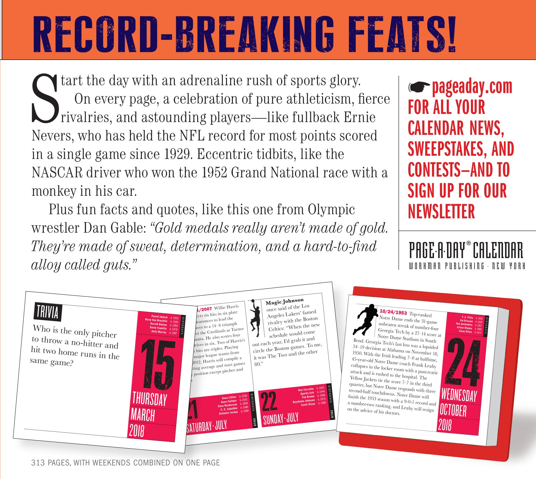 The official 365 sports facts a year page a day calendar 2018 the official 365 sports facts a year page a day calendar 2018 workman publishing 9780761193609 amazon books fandeluxe Image collections