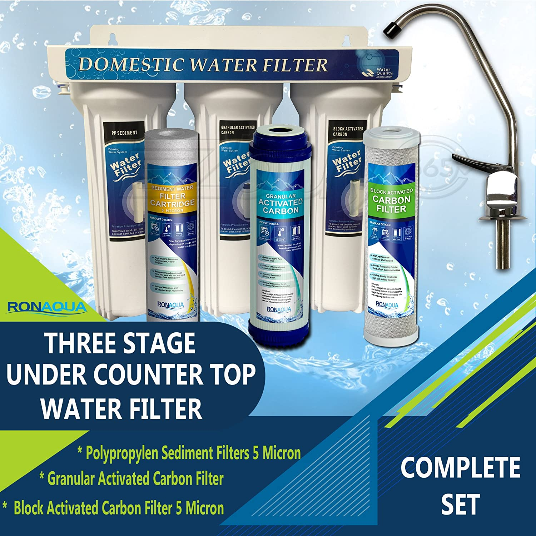 Amazon.com: Premium Under Sink Direct Connect Water Filtration ...