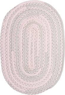 product image for Colonial Mills Bella Nursery Braided Rug, 6' X 9' , Pink Grey