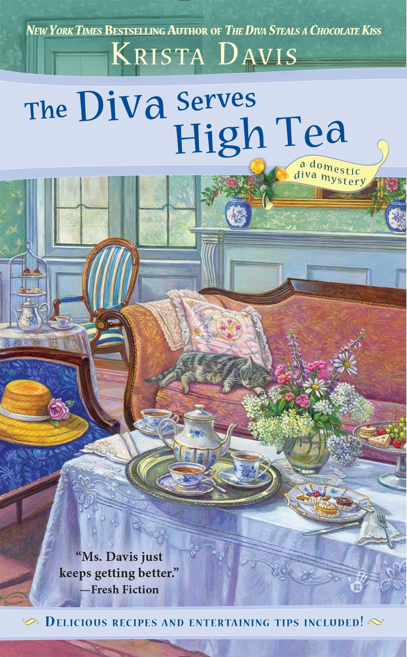The Diva Serves High Tea (A Domestic Diva Mystery, Band 10)